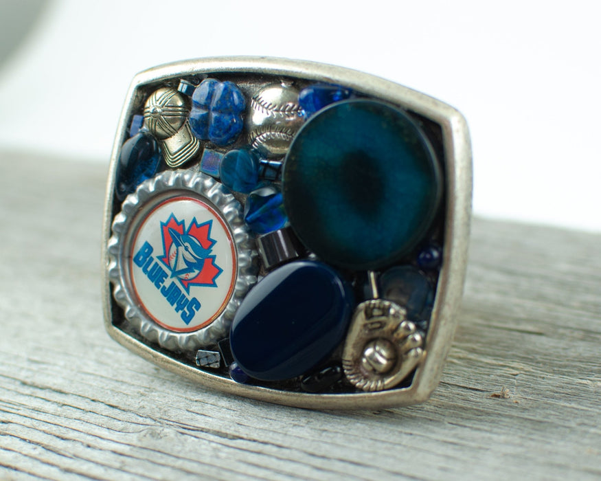 Toronto Blue Jays theme Belt Buckle - Artfest Ontario - Lisa Young Design - Belt Buckles