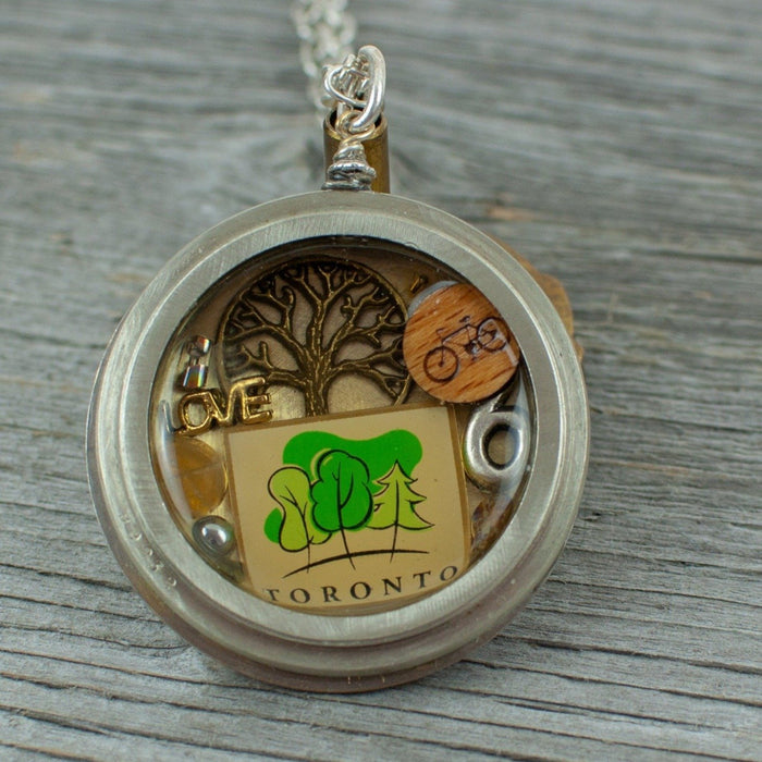 Toronto Pocket Watch Necklace - Artfest Ontario - Lisa Young Design - Watch Part Necklaces
