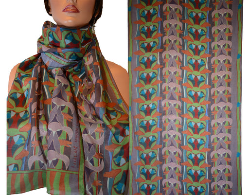 Totem Rectangular Scarf (Earth) - Artfest Ontario - Inunoo - Rectangular Scarves