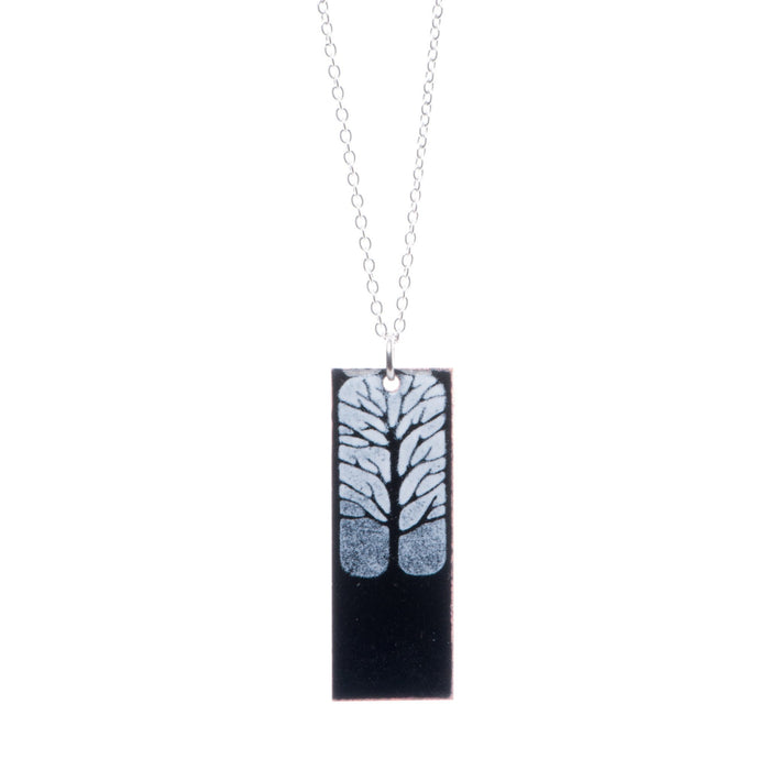 Tree Necklace in Black & White - Artfest Ontario - Aflame Creations Jewelry - Jewellery