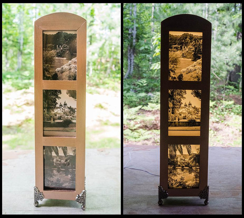 Triptych Lightbox - Views in Furnas Azores - Artfest Ontario