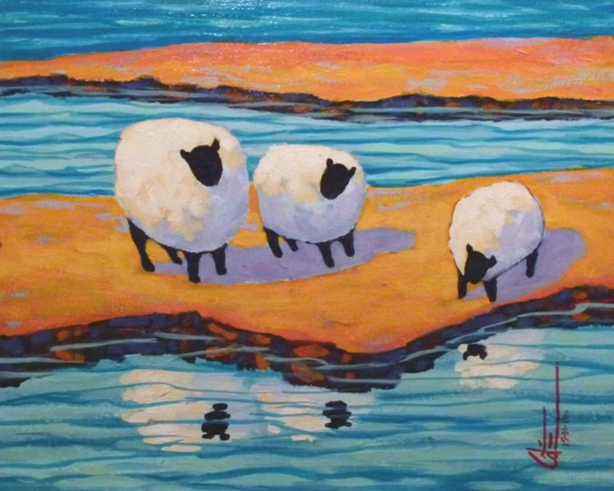 Trois Moutons (Three Sheep) - Artfest Ontario - Gilles Côté - Paintings -Artwork - Sculpture