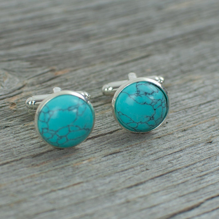 Turquoise Cuff links - Artfest Ontario - Lisa Young Design - Cuff Links