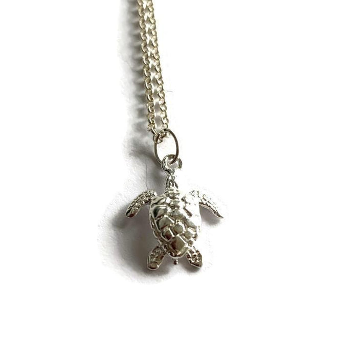 Turtle charm Silver Necklace - Artfest Ontario - Lisa Young Design - Charm Necklaces