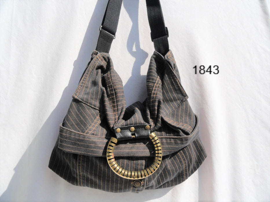Upcycled Crossbody Bag #1843 - Artfest Ontario - Revoila Handbags - Clothing & Accessories