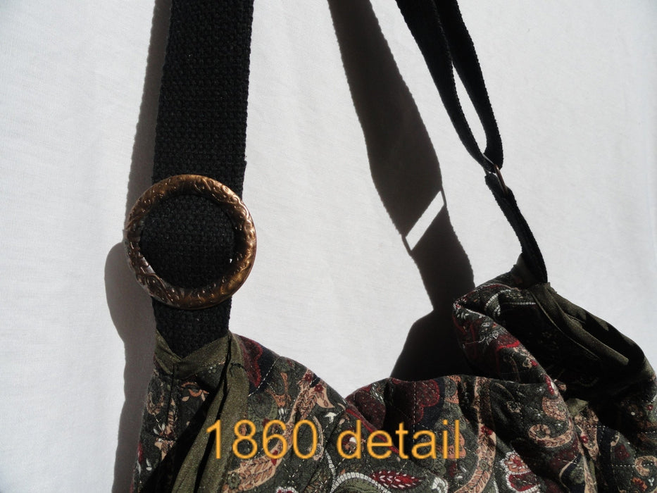 Upcycled Crossbody Bag #1860 - Artfest Ontario - Revoila Handbags - Clothing & Accessories