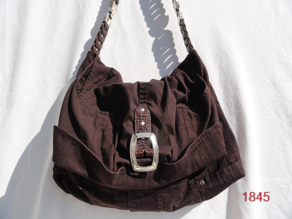 Upcycled Shoulder Bag # 1845 - Artfest Ontario - Revoila Handbags - Clothing & Accessories