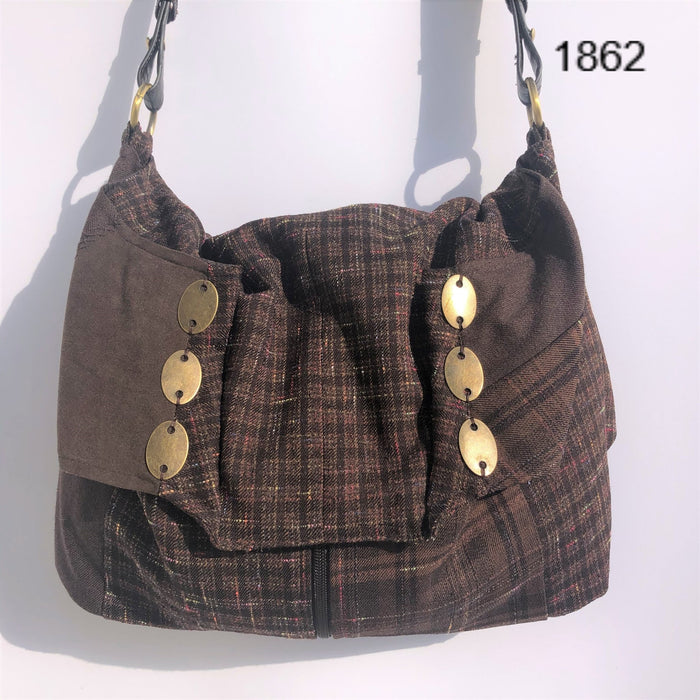 Upcycled Shoulder Bag # 1862 - Artfest Ontario - Revoila Handbags - Clothing & Accessories