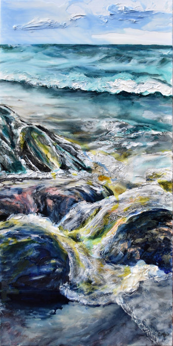 Veiled Rocks, 2019 - Artfest Ontario - Celina Melo - Paintings, Artwork & Sculpture