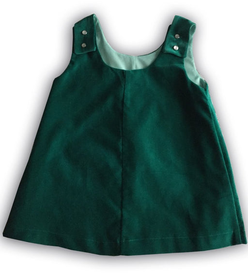 Velveteen Pinafore aged 3 years - Artfest Ontario - Muffin Mouse Creations - Clothing & Accessories