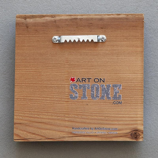 Wake Up, Be Kind - On Barn Board 0048 - Artfest Ontario - Art On Stone - Photography