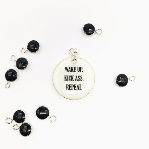 Wake Up Kick Ass Repeat - Studio Degas - Artfest Ontario - Studio Degas - Jewelry & Accessories