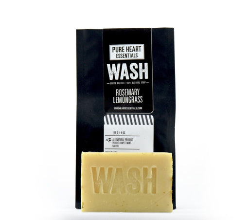 WASH – ROSEMARY/LEMONGRASS SOAP (VEGAN) - Artfest Ontario - Pure Heart Essentials - wash