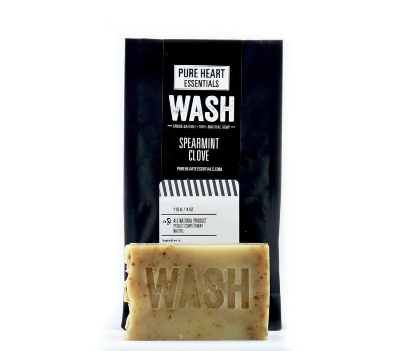 WASH – SPEARMINT/CLOVE SOAP (VEGAN) - Artfest Ontario - Pure Heart Essentials - wash