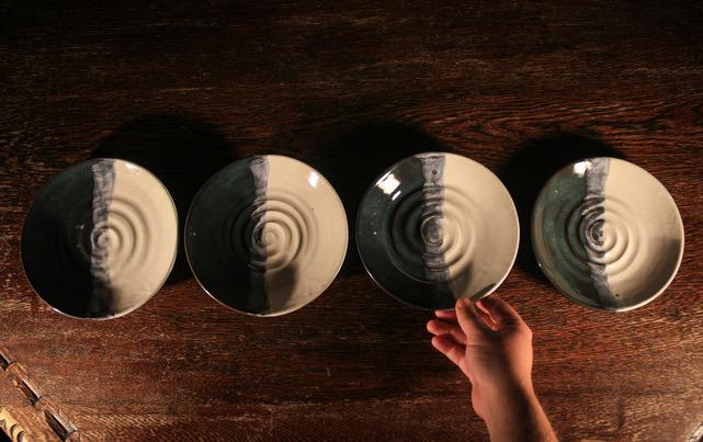 """Wave Break"" Plate Set - Artfest Ontario - LAF Pottery Productions - Pottery"