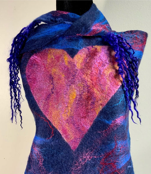Wear your Heart - Artfest Ontario - Love to Felt Artwear - Clothing & Accessories