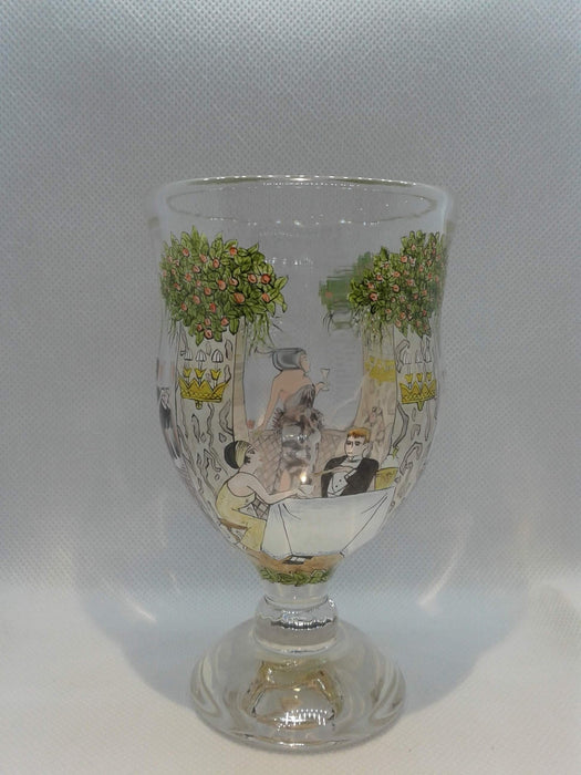 Wedding Goblet - Hand Painted - Artfest Ontario - Lukian Glass Studios - Glass Work