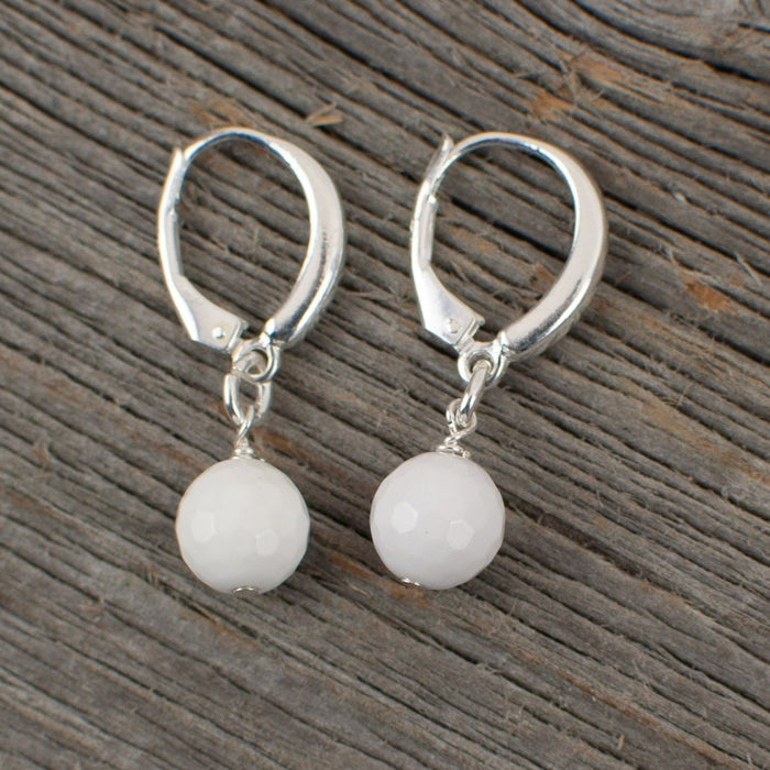 White Agate Golf ball Earrings - Artfest Ontario - Lisa Young Design - Earrings