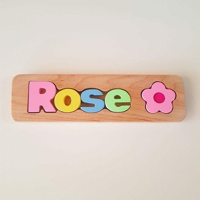Wood Name Puzzle Girl + Symbol - Artfest Ontario - Wooden Puzzle Name Canada - Toys & Games