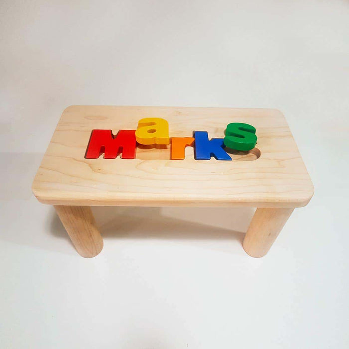 Wooden Name Puzzle Bench (name only) - Artfest Ontario - Wooden Puzzle Name Canada - Toys & Games