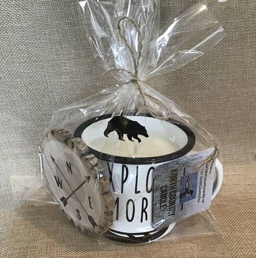 XL Enamel Mug Candle- Explore More - Artfest Ontario - North Country Candle - Furniture & Houseware