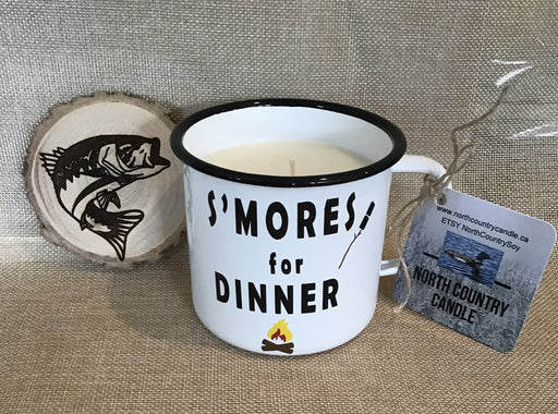 XL Enamel Mug Candle – S'Mores for Dinner - Artfest Ontario - North Country Candle - Furniture & Houseware