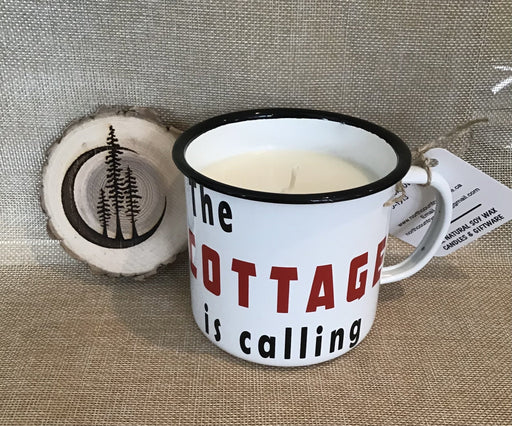 XL Enamel Mug Candle– The Cottage is Calling - Artfest Ontario - North Country Candle - Furniture & Houseware