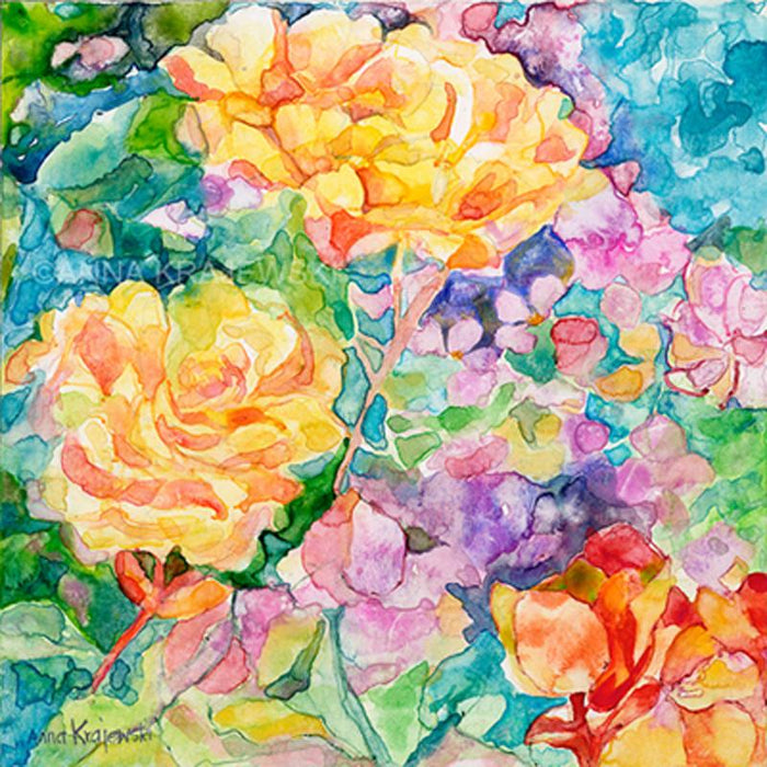 YELLOW ROSES - Artfest Ontario - Anna Krajewski - Paintings