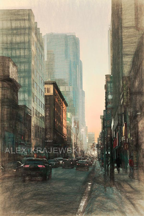 Yonge Street Traffic - Toronto, ON - Artfest Ontario - Alex Krajewski Gallery - Paintings -Artwork - Sculpture