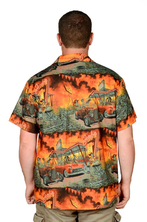 Zombie Drive In Retro Pattern - Hawaiian Shirt - Artfest Ontario