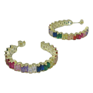 <i>Rainbow Hoop Earrings</i><br>2 color options<br>