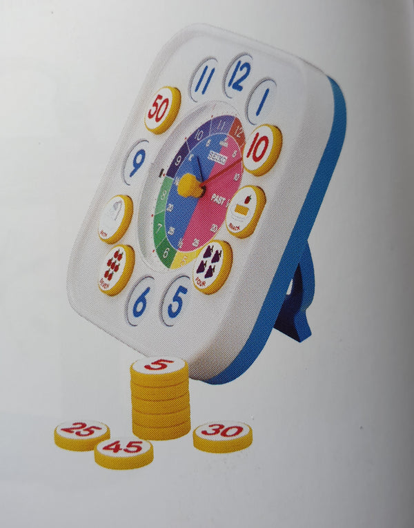 The joy of learning to tell time with Seiko Kids Clock QHA004P