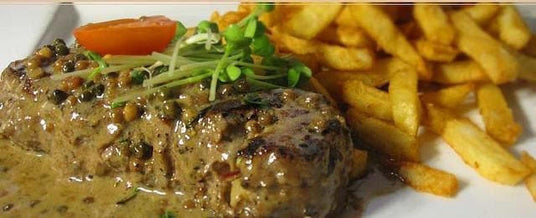 French Classic Bavette Steak au poivre