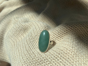 Green Aventurine Ring | Size 6