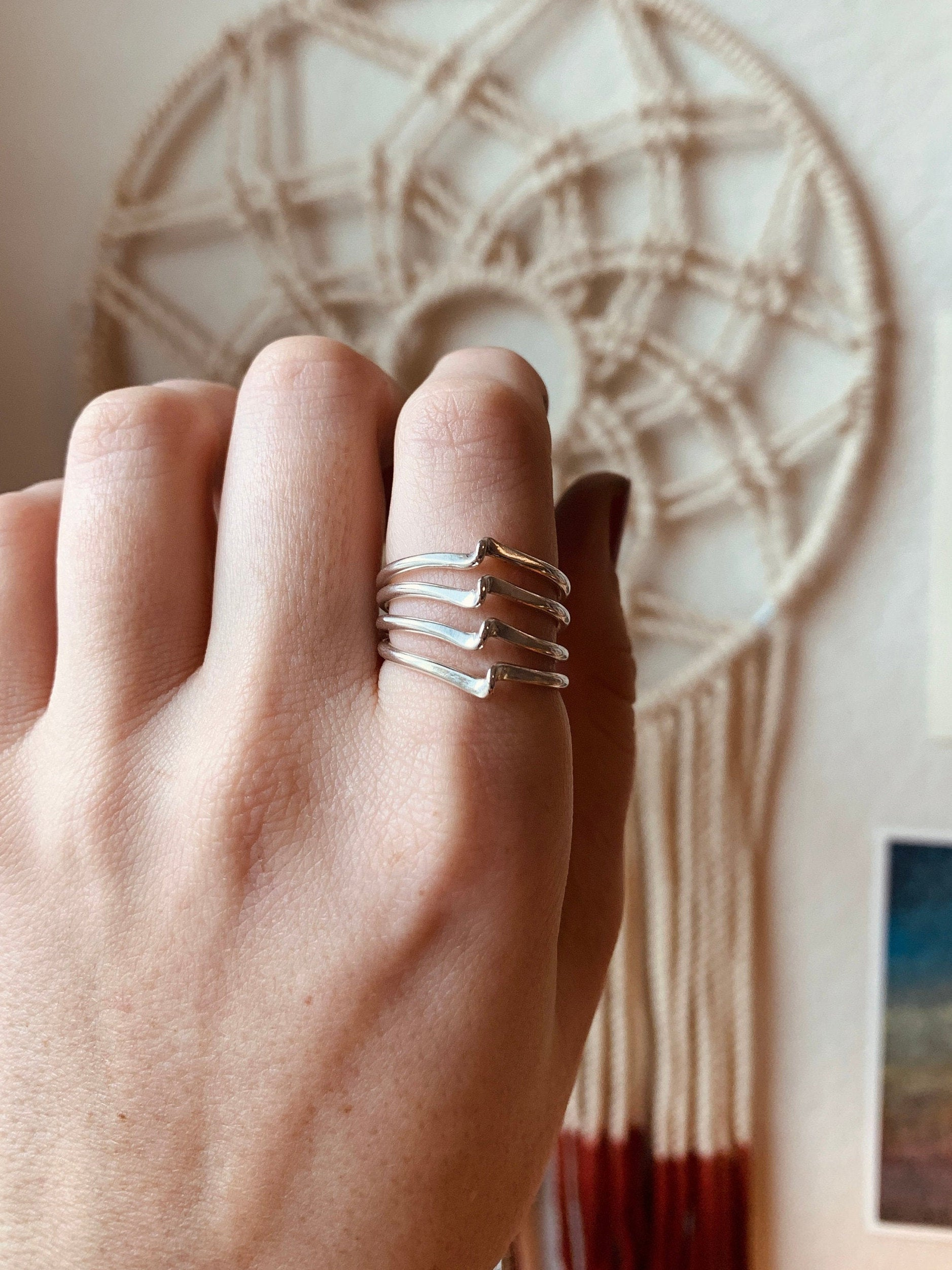 Forged Wave Stacking Ring