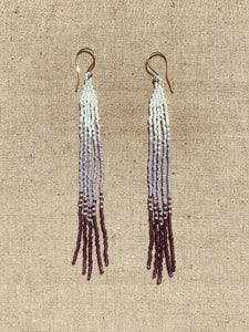 Purple Beaded Shoulder Dusters
