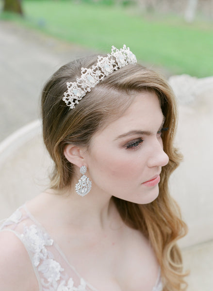 MERCY Opal Tiara - As Seen on Brides.com