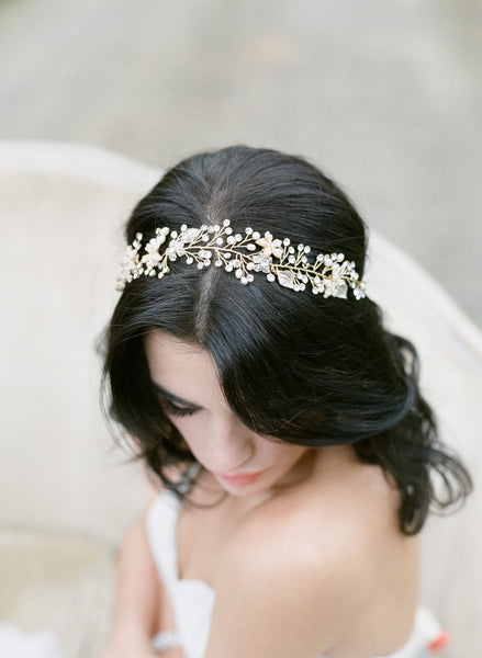 LOLA Gold Bridal Headpiece