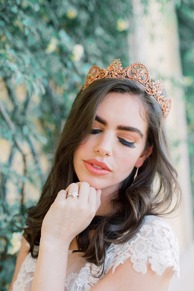 ADELAIDE Rose Gold Brass Tiara