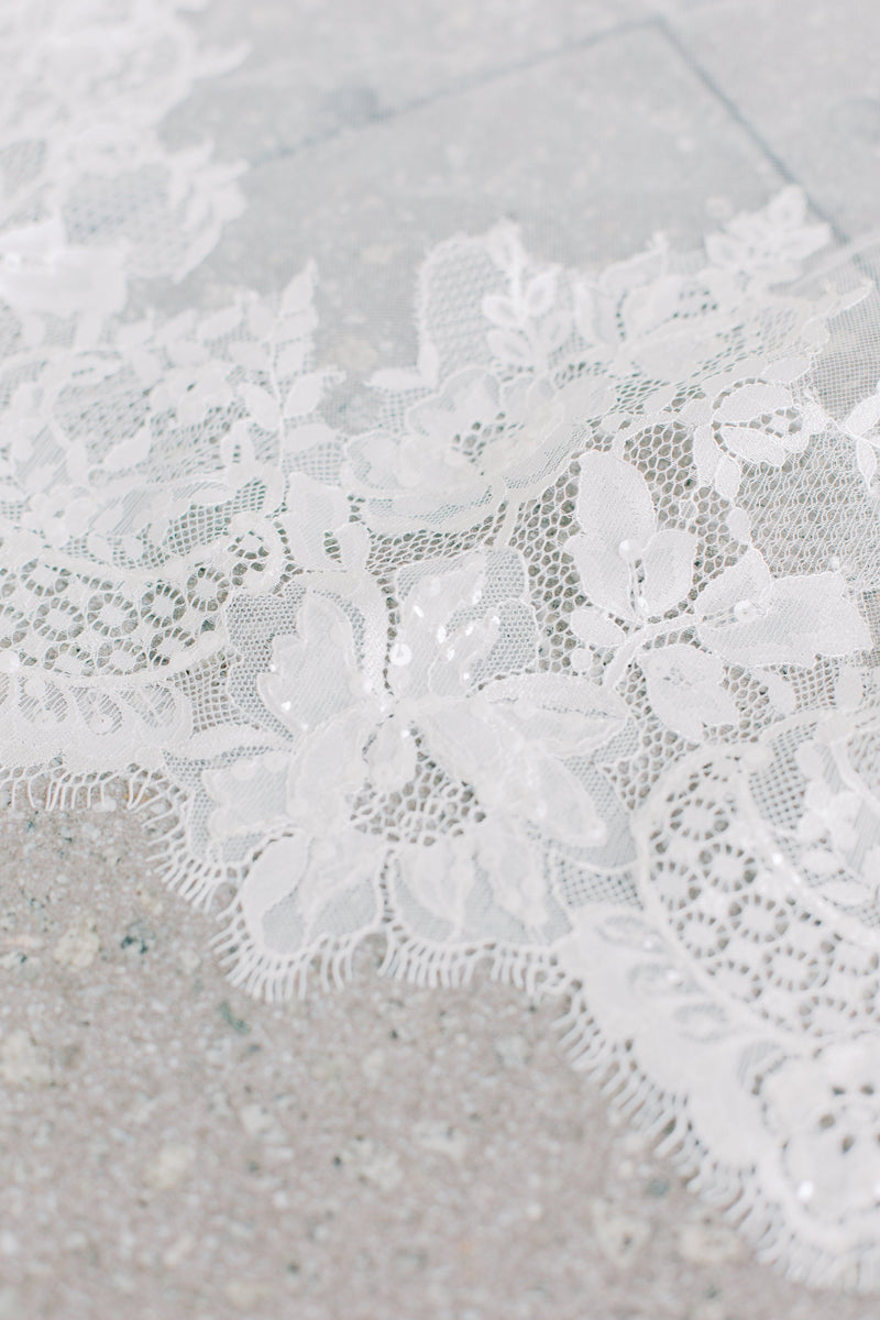 ALEXANDRIA Lace Cathedral Veil