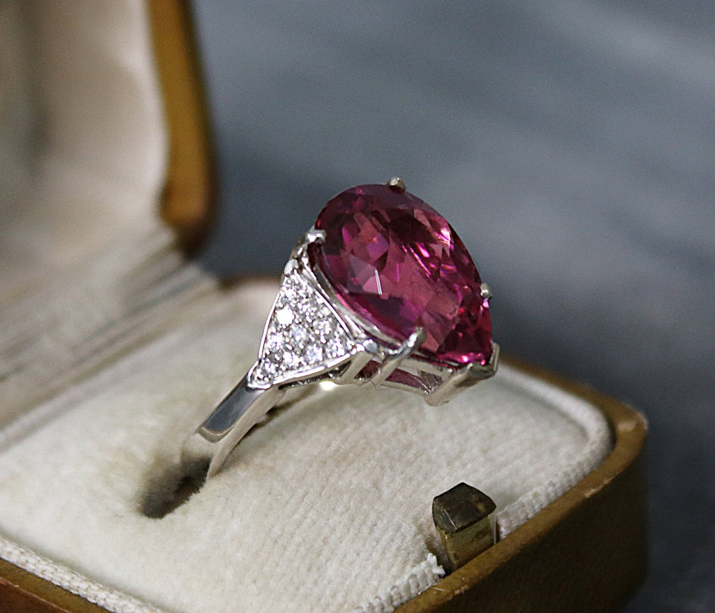 AMALFI Pink Tourmaline and Diamond Engagement Ring 5.38
