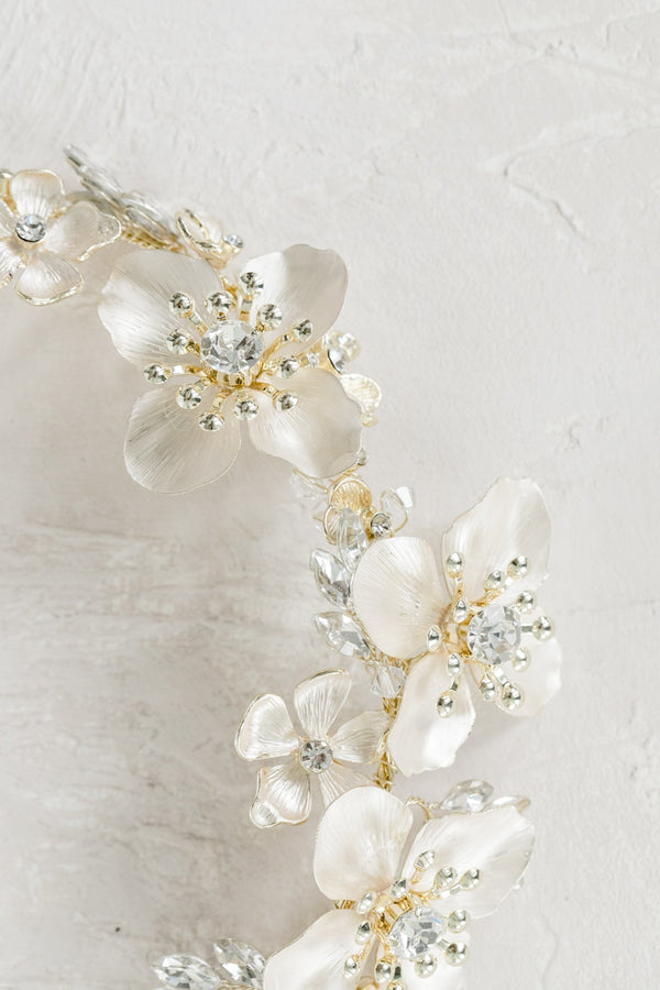 ANNA Gilded Blossoms Headpiece
