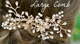 ANTONIA Bridal Gilded Blossoms Headpiece