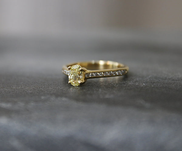 BROOKHAVEN Fancy Yellow Diamond Engagement Ring 0.94