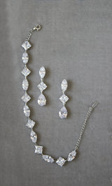 BRYN Simulated Diamonds Earrings and Bracelet Set