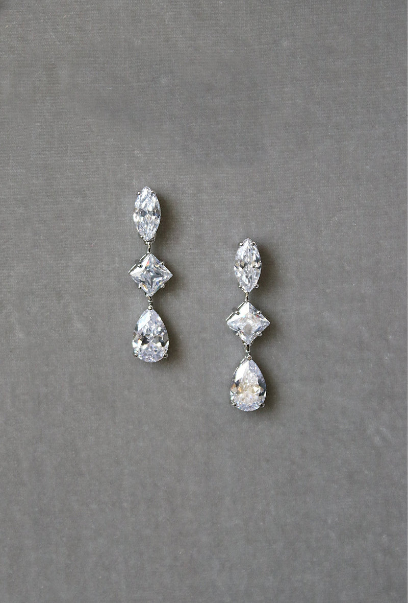 BRYN Simulated Diamond Drop Earrings