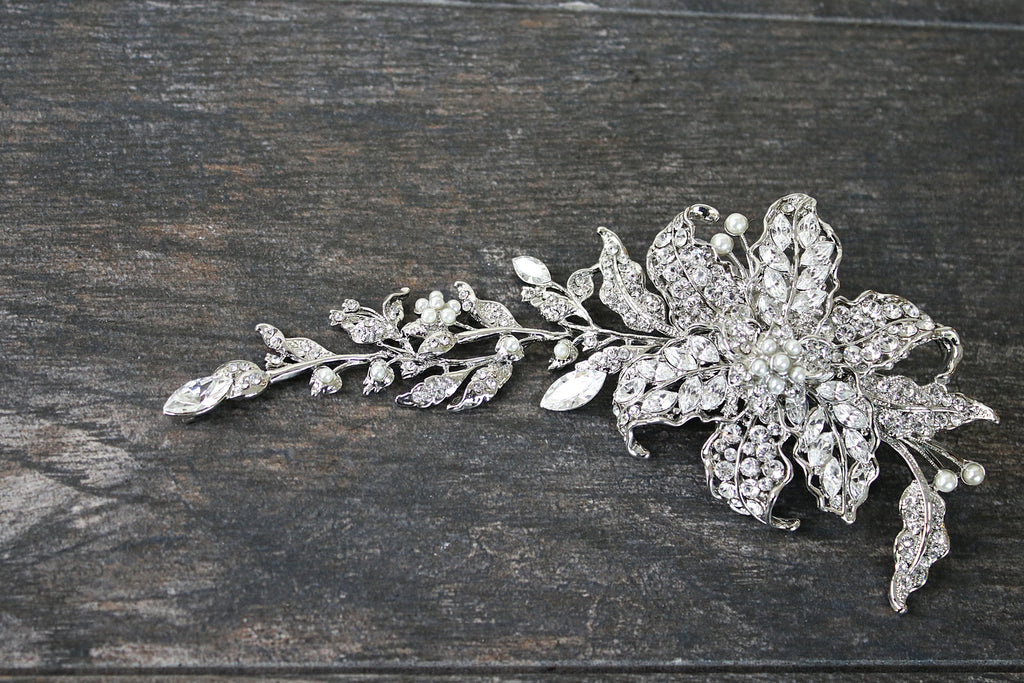 CADENCE Floral Long Headpiece