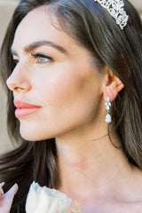 CLAIRE Bridal Drop Earrings