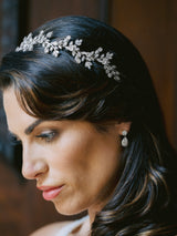 FABRICE Simulated Diamond Bridal Headpiece