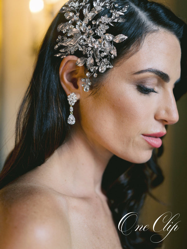 MARGOT Silver Bridal Hair Clips